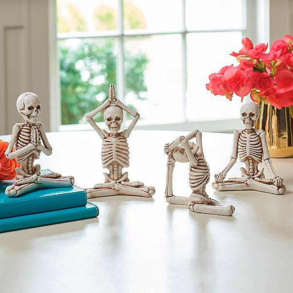 Price Point: Get your Halloween zen on with yoga skeletons (really)